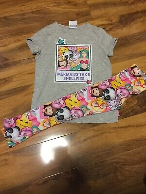 Emoji Girls Set Trouser And Top Age 10-11years