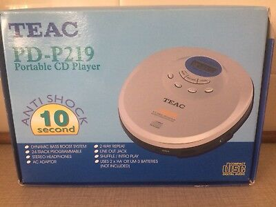Teac PD-P219C Portable Compact Disc Walkman New Old Stock