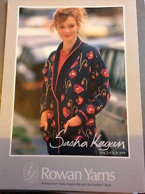 Rare Rowan Yarns knitting pattern by designer Sasha Kagan