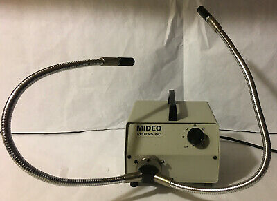 Mideo Systems Inc. Fiber Optic Illuminator Mircoscope Light Source w/ Dual Light