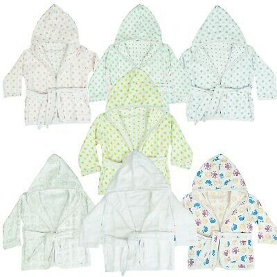 MuslinZ Baby Hooded Bathrobe 100% Cotton Various Designs and Colours