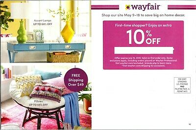 WayFair Online Coupon 10% off Expires 12/15/2019 - 1st Order Only!