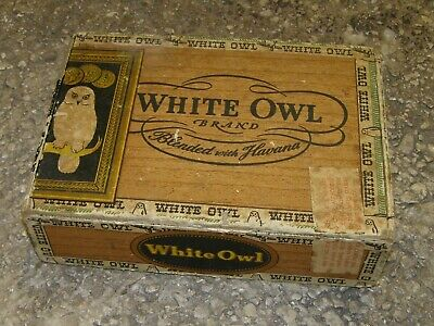 BOITE TABAC cigares WHITE OWL  D-DAY US ARMY GI 39/45 WW WWII ration paquetage