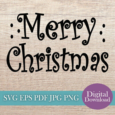 Merry Christmas Svg Cut File Digital Download Stencil Trace Art Craft Images