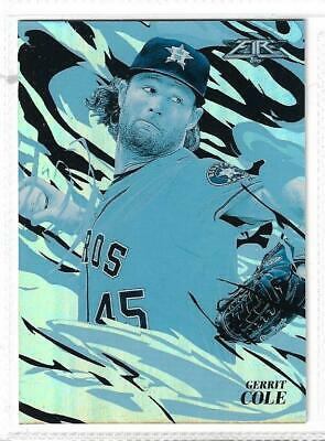 """Gerrit Cole (Houston Astros) - 2019 Topps Fire """"Flame Throwers- Blue"""" Insert"""