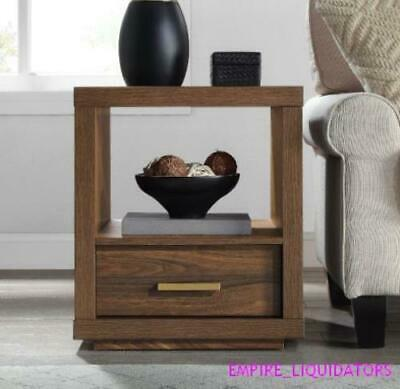 Boxed / Complete - Better Homes & Gardens Steele End Table In Walnut Finish