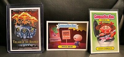 2019 NYCC Topps Garbage Pail Kids Crispy Christy Village of the Adamed plus more