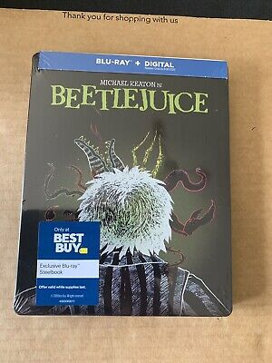 Beetlejuice Best Buy Exclusive Steelbook Blu Ray NEW & SEALED Reg Free In Hand