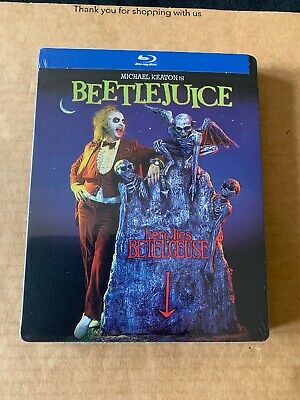 Beetlejuice (1988) Blu Ray Steelbook *NEW & SEALED* Tim Burton US Import
