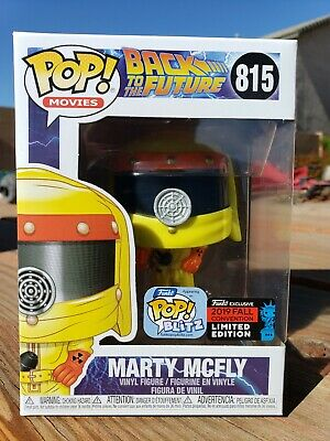 FUNKO POP! BACK TO THE FUTURE MARTY MCFLY HAZMAT NYCC 2019 SHARED In Hand