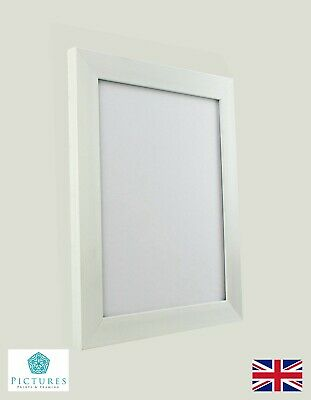 "White Photo Picture Frame 28mm 12x12"" 12x13 12x14 12x15 12x16-36"" A3 Mount Glass"