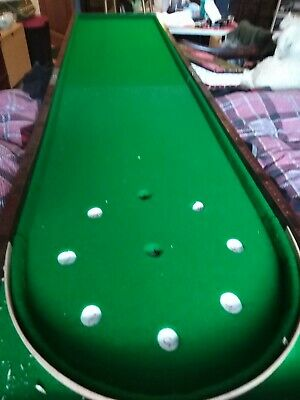 6 19th Century Victorian Folding Bagatelle with balls