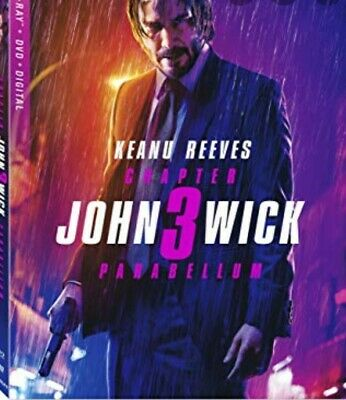 John Wick: Chapter 3 (Blu Ray+DVD+DIGITAL) OPENED BUT HAS CODE no slipcover