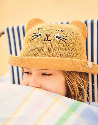 Joules Girls Ashton Character Hat in NATURAL Size 12min24m