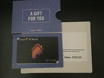 Currys / PC world Gift Card worth £500, 5% off discount!
