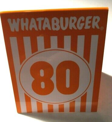 Whataburger Table Tent Number 80