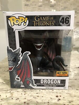 Funko POP! Game Of Thrones #46 Drogon (Hot Topic Exclusive - Red Eyes) 6 inch