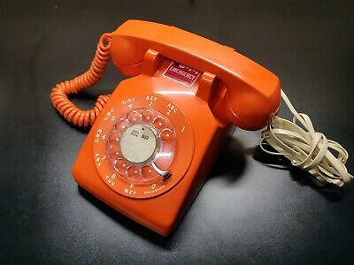 1962 Western Electric Bell System 500 Rotary Telephone Orange ITT