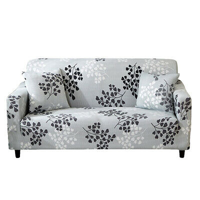 1/2/3/4 Sofa Couch Slipcover Stretch Covers Elastic Fabric Settee Protector UK