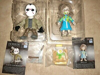 Loyal Subjects Horror Friday 13th Exorcist Jason Voorhees Glow Regan Bed Lot