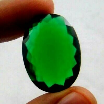 Treated Faceted Emerald Gemstone 24CT 24x17mm NB176