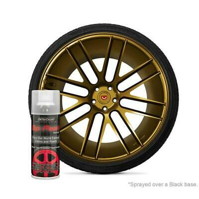 2 (X) Pure Gold Alloy Plasti Dip Liquid Wrap Removable Rubber Coating Aerosol