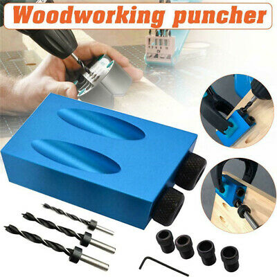 7/14PCS Pocket Hole Screw Jig Dowel Drill Sets Woodworking Joint Hole Tools