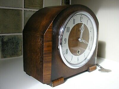 RESTORED 1940's ENFIELD MANTLE CLOCK