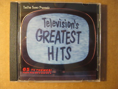 TELEVISIONS GREATEST HITS - 65 TV Themes From The 50's & 60's (1990 CD)