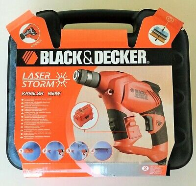 Taladro Percutor Black&Decker Velocidad Variable Con Nivel Laser Extraible 650 W