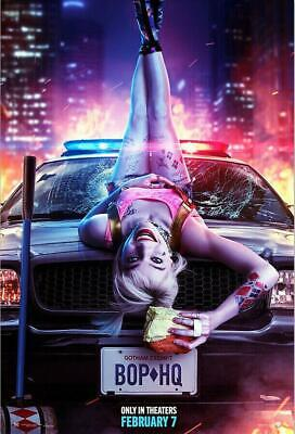 New Birds of Prey Harley Quinn DC Joker Movie 2019 Art Silk POSTER 12x18 24x36