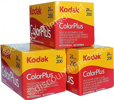 3 x KODAK COLORPLUS 200 35mm 24exp CHEAP COLOUR CAMERA FILM by 1st CLASS POST