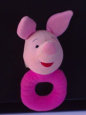 PLAYGRO DISNEY Cute Pink Piglet Baby Ring Rattle