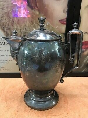 Antique Reed & Barton Silver Plate Tea/coffee Pitcher 1867 #833