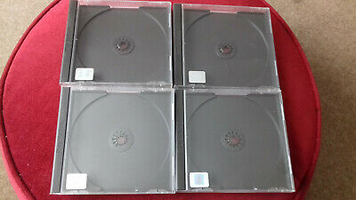PS1 GAMES CASES OFFICIAL USED EMPTY JEWEL CASES x 4 ALL WITH PS1 LOGO & HOLOGRAM