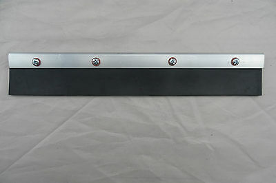 One 50Mm Black Long Rubber Solid Nitrile Squeegee Free Post