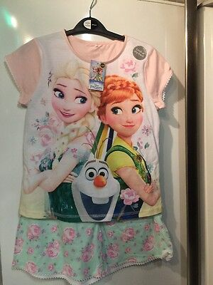Disney Frozen Girls Pyjamas Aged 8-9 Years Old, BNWT