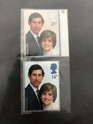 Royal Wedding Charles & Diana, Commerative 1st/2nd Class Stamps, Mint Condition