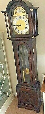 Oak Cased Longcase Clock With Triple Chimes full working order great condition