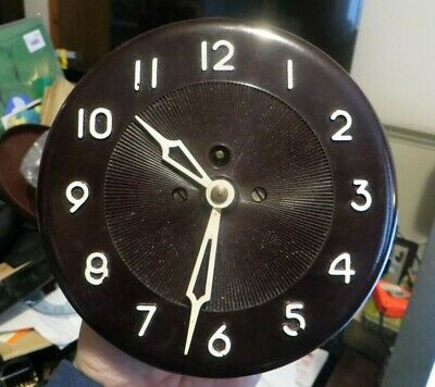 Rare unusual Austrian bakelite wall clock, 1950s