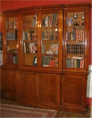 "19th Century Breakfront Library Bookcase by ""Edwards & Roberts"""