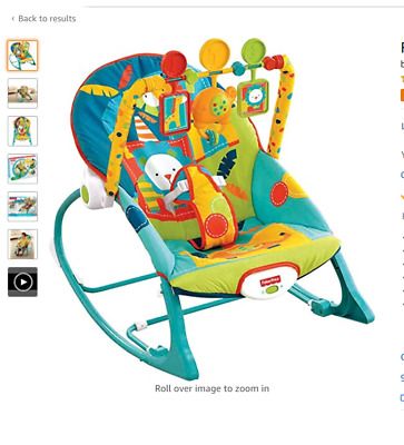 Baby Bouncer Seat Chair Fisher-Price Infant-to-Toddler Rocker,Dark Safari,Sounds