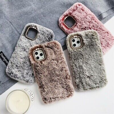 Furry Fluffy Fur Plush Case Warm Phone Cover for iPhone 7 8 Plus X XR 11 Pro Max