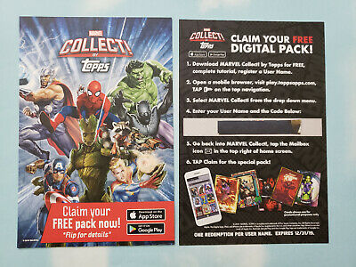 2019 Nycc Topps Marvel Collect Codes Free Digital Pack