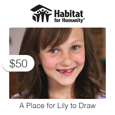 $50 Charitable Donation For: A Place for Lily to Draw