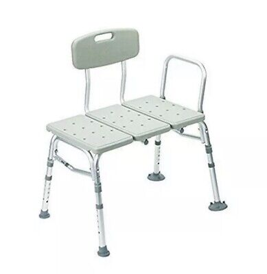 Drive Medical Bath Shower Transfer Benches Three Piece, Gray