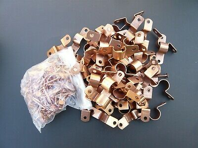 """TWO HOLE COPPER FITTING PIPE TUBE STRAP  PLUMBING OD 5//8/"""" LOT OF 100 1//2/"""""""