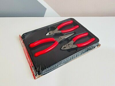 *NEW* Snap On 3-pc Red Pliers Set PL305ACF