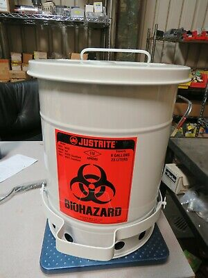 Just Rite 05910 Biohazard Canister 6 Gallon/23 Liter Capacity