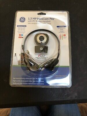 GE 1.3 MP MiniCam Pro with PC Stereo Headset 98003 NIB  030878980036